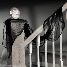 2.4m Gothic Halloween Party Black Cheesecloth Fabric Draping Drape Decoration