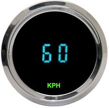 Dakota Digital Universal Round Mini Speedometer Gauge Teal Display ODYR-01-4 KPH