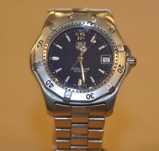 Tag Heuer WK1113-1 Blue Face SS Men's Classic Wristwatch * Pre-owned*