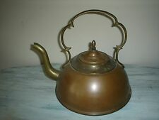 Vintage ETHAN ALLEN Rare Copper & Brass Tea Kettle Made In Israel Unique Patina