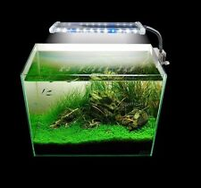 8W LED Clip Lamp Light Aquarium Fish Tank Plant Grow White & Blue Adjustable Arm