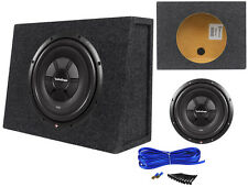 "Rockford Fosgate R2SD2-12 12"" Shallow Car Audio Subwoofer+Slim Sub Box Enclosure"