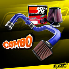 04-06 Mitsubishi Lancer RalliArt MT Blue Cold Air Intake + K&N Air Filter