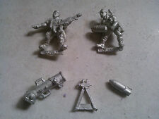 WARHAMMER 40.000-40K-IMPERIAL GUARD-CADIAN HEAVY WEAPON TEAM MORTAR -COMPLETE-GW