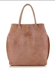 AUTHENTIC GIANFRANCO FERRE LARGE WASHED LEATHER TOTE BAG BROWN $499 CERTILOGO