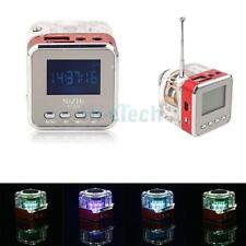 NiZHi TT-029 Digital FM radio Clock Alarm USB TF Music Mp3 Player Mini Speak Red