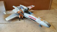 Star Wars Electronic X WING Fighter Vehicle Toy Lot + FREE Rebel Pilot Figure!