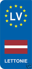 lot 2 Stickers style immatriculation (Vinyl FLAG) Europe LETTONIE