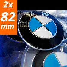 2x BMW 82mm Emblem Logo Vorne Motorhaube 1er 3er 5er 7er e46 e46 e90 e61 e60 x3