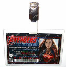 Marvel Age Of Ultron ID Badge Scarlet Witch Super Hero Cosplay Halloween