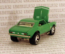 SET EXCLUSIVE '67 CHEVY CAMARO 1967 GREEN WHITE W REAL RIDERS HOT WHEELS LOOSE
