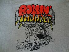 Vintage 90's ROLLIN' THUNDER Cookout BBQ Chili Contest T Shirt Men's Size 2XL