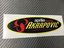 1 Adesivo Stickers AKRAPOVIC Aprilia Racing Old resistente al calore 20 cm