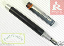 Pirre Paul's 325B Fountain Pen BLACK + 5 POKY cartridges colour ink GREEN