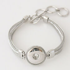 Single Snap Toggle Bracelet For Snap it Button Charms