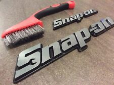 2x Snap On Tool Box 3D Badge Emblem Logo ** USA OFFER** With Snap On Wire Brush