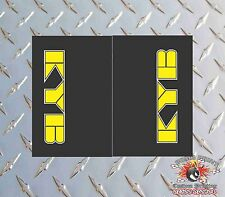 KYB YELLOW Upper Fork Graphics Decals stickers suspension