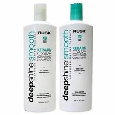 Rusk DeepShine Smoothing Keratin Care Shampoo Conditioner Duo 12 Oz