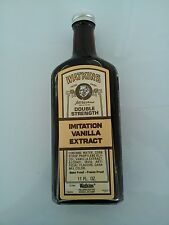 Vintage unopened J.R. Watkins vanilla embossed glass bottle circa 1986 NOS