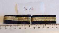Luftfahrt Rangschlaufe 1 Balken golden schmal kurze Form 1 Paar (d192-)