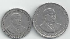 2 DIFFERENT COINS from MAURITIUS - 1 & 5 RUPEES (BOTH DATING 1991)