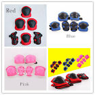 6pcs Kid Roller Skating Skateboard Knee Elbow Wrist Protective Guard Pad Gear BH