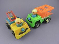 Pair of c1970s Wind Up Recovery Trucks from Old Toy Shop