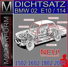 BMW 02 tipo 114/e10 di tenuta set 5 pezzi - 5 Guarnizioni Carrozzeria GOMME NUOVO