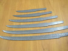 "8"" to 18""Damascus steel CUSTOM made tanto knife blade blank billet blank 6pcs"