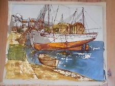 Bernard Dufour / Méditerranée / Mer / Marine / Sea / Bateaux /  signé