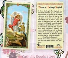 St. Raphael the Archangel with Novena to Archangel Raphael - Laminated Holy Card