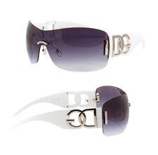 New Womens Ladies Designer Oversized DG Eyewear Cool White Fashion Sunglasses
