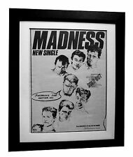 MADNESS+Tomorrow's Another Day+TOUR+POSTER+AD+ORIG 1983+FRAMED+FAST GLOBAL SHIP