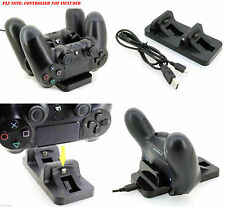 DUAL CARGADOR USB ESTACIÓN BASE SOPORTE CARGADOR PARA PLAYSTATION 4 PS4 MANDO