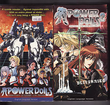 ANIME: POWER DOLLS Volumes 1 and 2 (1999--Dubbed) 2VHS ~Battlesuits~
