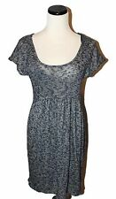 PINS & NEEDLES @ URBAN OUTFITTERS Blue Marled Stretch Empire S/S Knit Dress M