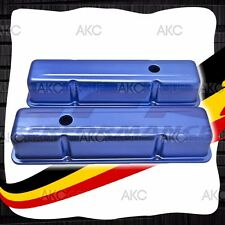ANODIZED BLUE STAMPED ALUMINUM TALL VALVE COVERS FOR CHEVY SB 283 305 327 350