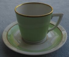 Royal Copenhagen Raadvad Green Demitasse Cup and Saucer Set