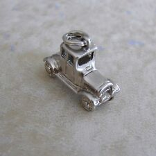 Old Fashioned Car Automobile Silver Plate Bracelet Charm
