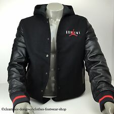 SUPREME JORDAN JACKET HOODED VARSITY BASEBALL JACKET NIKE DEADSTOCK SIZE LARGE