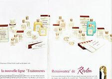 PUBLICITE ADVERTISING 026  1964  Revlon  cosmétiques (2p)  ligne Renaissance