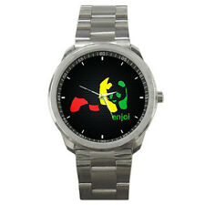 ENJOI RASTA PANDA SPORT METAL WATCH FIT FOR YOUR DECK AND T SHIRT