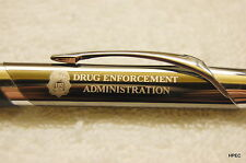 US DEA Badge gunmetal colored Agency pen DEA FBI CIA SECRET SERVICE MARSHAL  DOJ