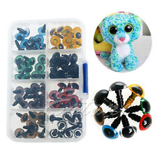New 80Pcs 10mm Plastic Safety Eyes Washers 8 Colors For Teddy Bear Doll Animal