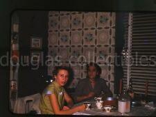 1950s red border kodachrome   Photo slide   Ladies at kitchen table  Milk Bottle