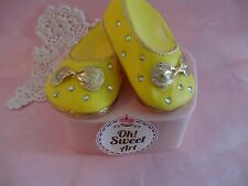 Baby shoes 3D silicone mold fondant cake soap  decorating APPROVED FOR FOOD