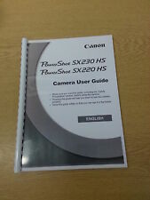 CANON POWERSHOT SX230  HS INSTRUCTION MANUAL USER GUIDE  PRINTED 206 PAGES A5