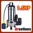 SUBMERSIBLE SEWAGE DIRTY WATER PUMP 1.5HP STAINLESS STEEL BODY