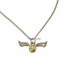 Harry Potter & The Deathly Hallows Golden Snitch Ball Pendant Charm Necklace