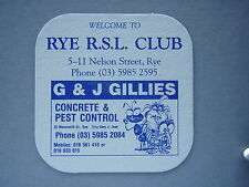 WELCOME TO RYE R.S.L. CLUB G & J GILLIES - COASTER